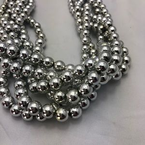 Silver Braided Chunky Necklace
